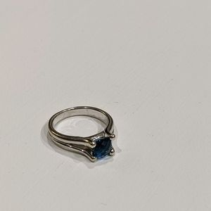 Silver Ring Blue Stone